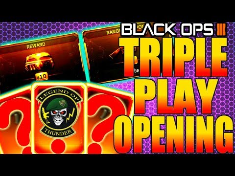 BLACK OPS 3 NEW TRIPLE PLAY CONTRACT SUPPLY DROP OPENING! COD BO3 NEW DLC WEAPONS BRIBE COMPLETED!