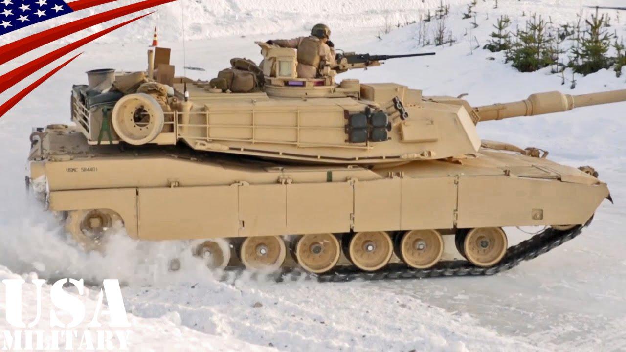 戦車の氷上ドリフト走行 m1戦車 レオパルト2戦車 tank drifting on