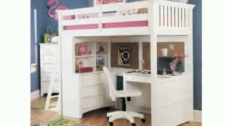 White Full Size Loft Bed