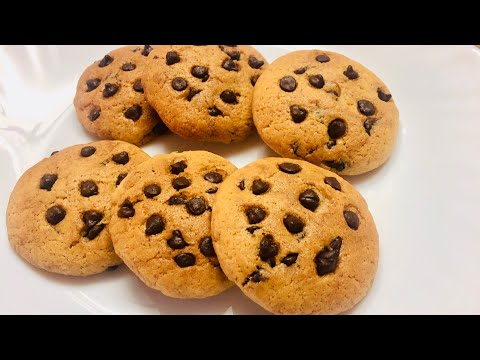 Easy Chocolate Chip Cookies Recipe | Eggless & Without Oven | Chocolate Biscuits
