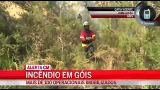 Incêndio em Góis põe casas em risco