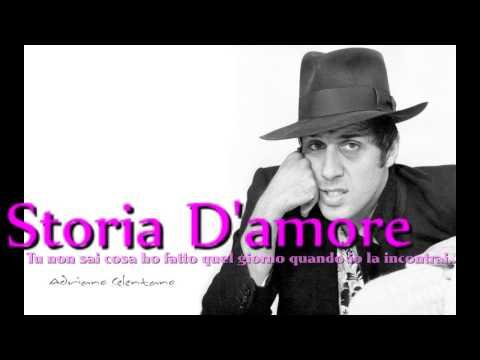 Adriano Celentano. Storia D'amore. con testo. video Mario Ferraro