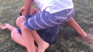 Little kids wrestling (funny)