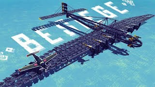 The Largest Flyable Bomber Plane - Besiege Best Creations