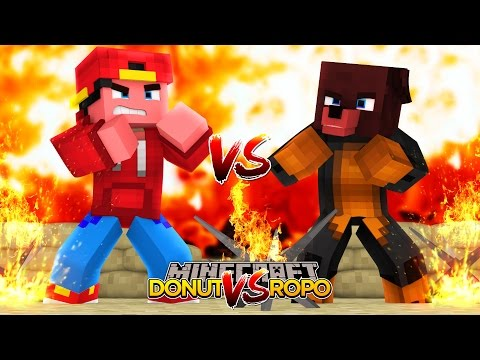 Minecraft - Donut the Dog Adventures -FACE CAM FIGHT WITH ROPO!!!!