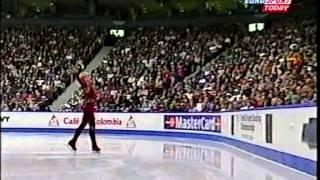 Evgeni Plushenko 2001 Worlds - SP Bolero + K&C- russian Eurosport