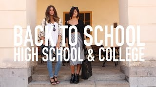 Back to School Lookbook 2014: High School & College