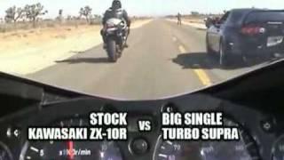 kawasaki zx10r zx 10 vs 811 rwhp turbo supra roll