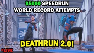 Cizzorz Death Run 2.0 World Record Attempts! ($5,000 Creative Mode DeathRun Challenge)