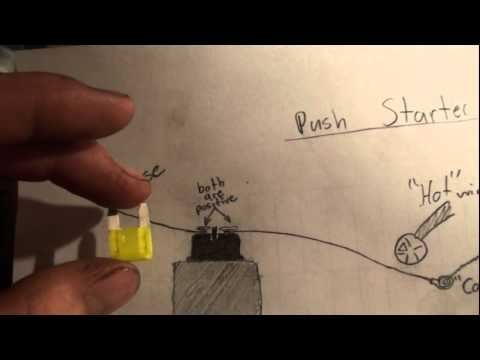 Car Starter Wiring Diagram 2001 Ford F150 Headlight Switch How To Wire A Push Very Easy Youtube