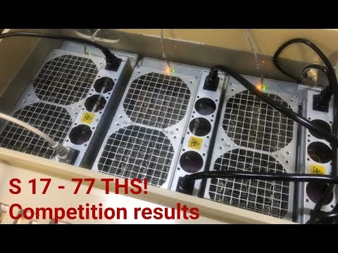 Competition Results. Antminer S17 Overclocking Firmware. Beeminer Liquid