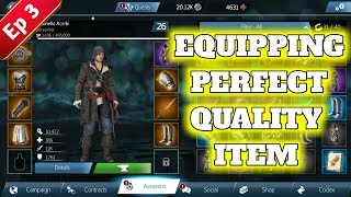 Assassin Creed Identity Equipping Perfect Quality Items