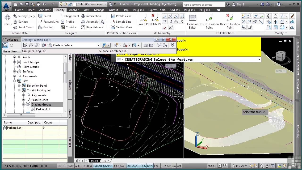 autocad civil 3d 2014 tutorial grading objects youtube rh youtube com manual autocad civil 3d 2014 manual autocad civil 3d 2014 pdf