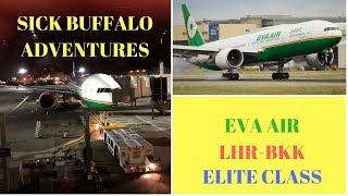 Eva Air Elite Class LHR-BKK 4K in Full, BFS info.