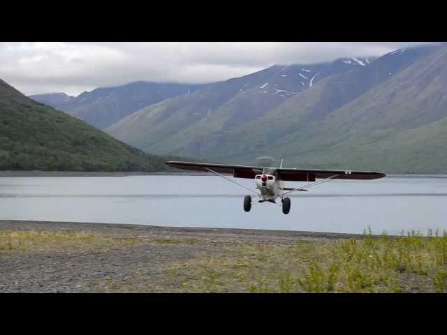 Ben landing Bold Airstrip Eklutna Lake, AK