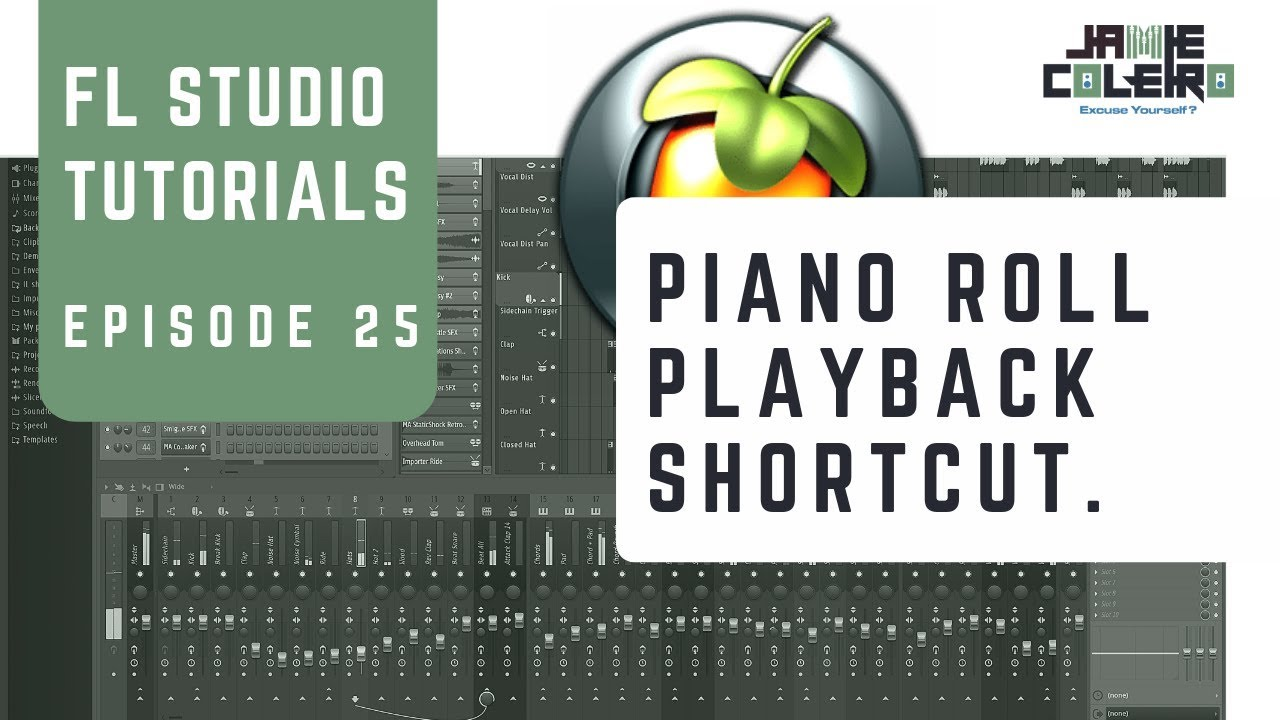 fl studio 12 piano roll shortcuts
