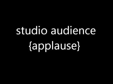studio audience applause sound FX