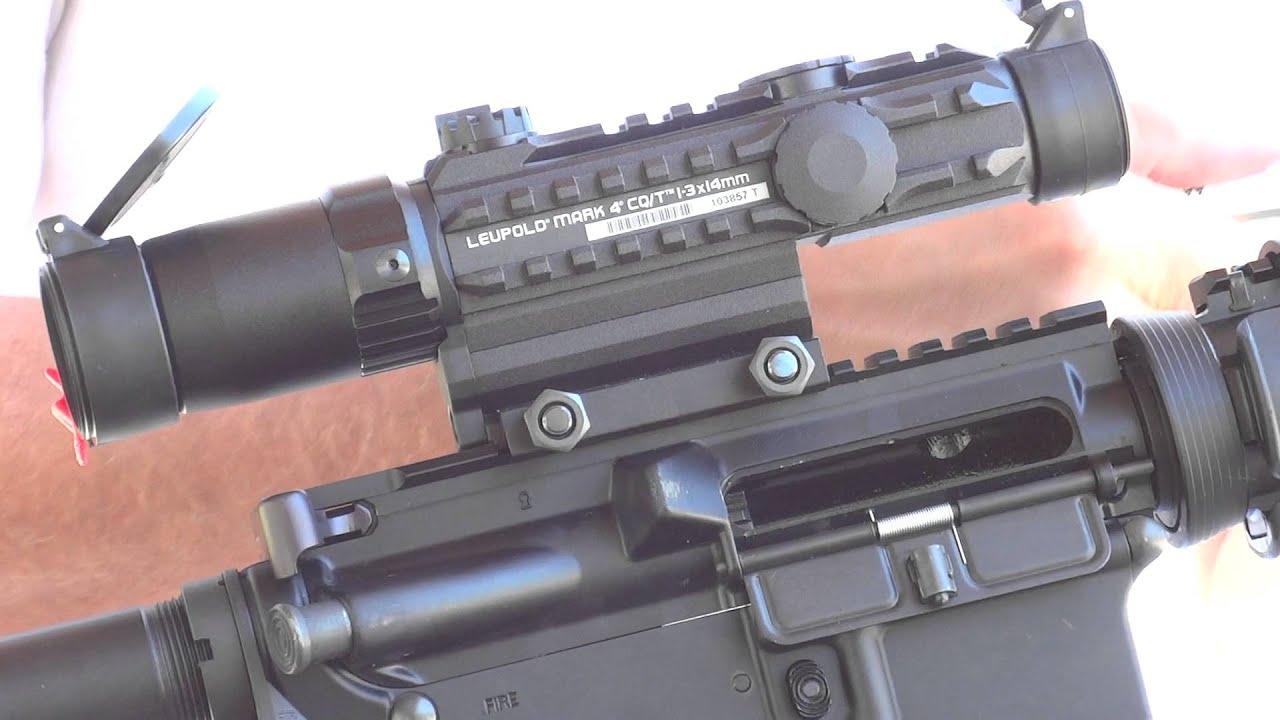Assualt Rifle Scope Leupold Mark 4 Cq T On Ar15 At The