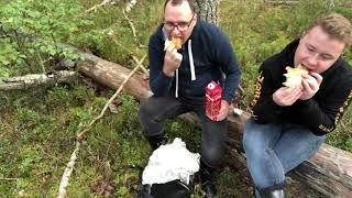МУКБАНГ в лесу. Сэндвичи 7 Eleven, ПРИРОДА и грибы