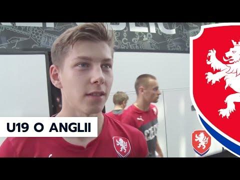 Čeští fotbalisté o Anglii, semifinálovém soupeři na ME U19 (10. 7. 2017, Tbilisi)