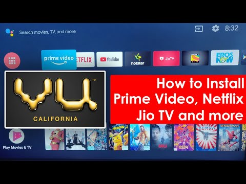 How To Install Prime Video, Netflix On VU 55-Inch Premium Android Smart TV