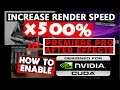 How to Increase Render Speed x500 How to enable CUDA for Premiere Pro After Effects 2015