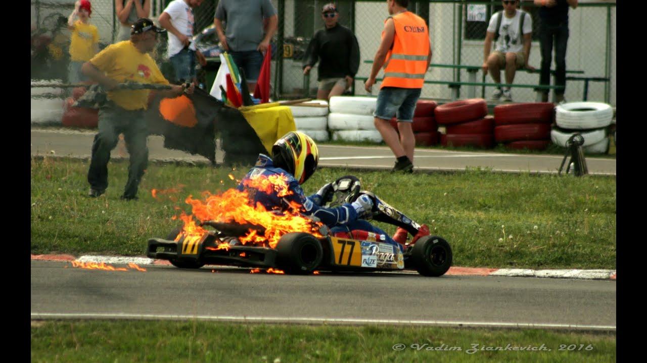 Karting Kz 2 Praga Crash Fire Belarus