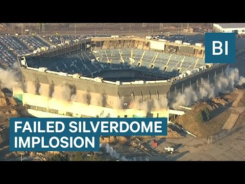Detroit Failed To Implode Pontiac Silverdome, Former Home Of The Detroit Lions