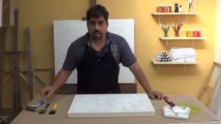 Como Fazer :  Textura em Tela