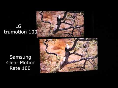 LG Trumotion 100 vs Samsung Clear Motion Rate 100