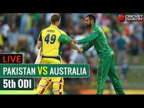 LIVE Streaming - Pakistan Vs Australia 5th ODI 2017 From Adelaide
