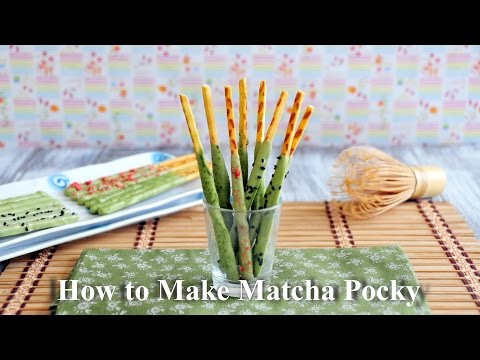 How To Make Matcha Pocky 自家製抹茶百力滋