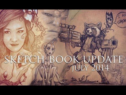 Sketch Book Update July 2014 + Art Challenge