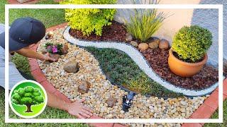 💚 DIY - GARDEN DECOR 18 / LANDSCAPING WITH ROCK