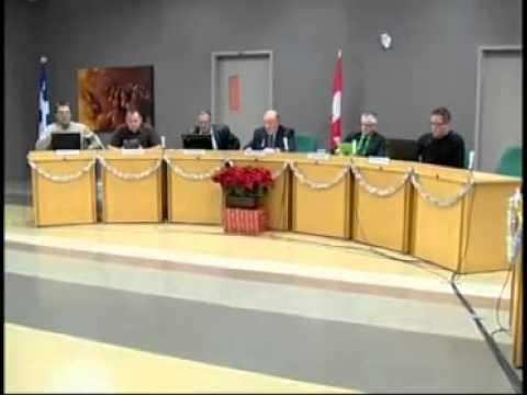 Réunions Publiques - Conseil Municipal de L'Ange-Gardien - Décembre 2012
