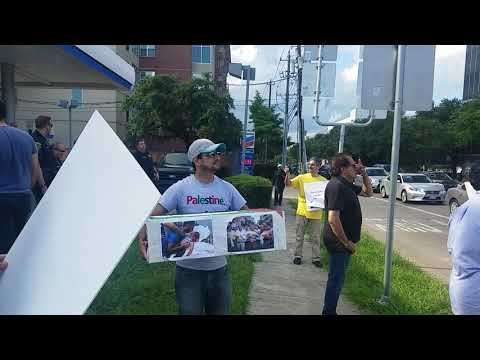 PROTEST FOR PALASTIEN OUTSIDE ISRAEL EMBASSY IN HOUSTON,TX(7)