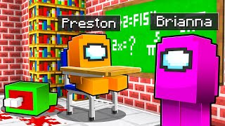 I Sent Baby Preston to AMONG US Minecraft School! *sus*
