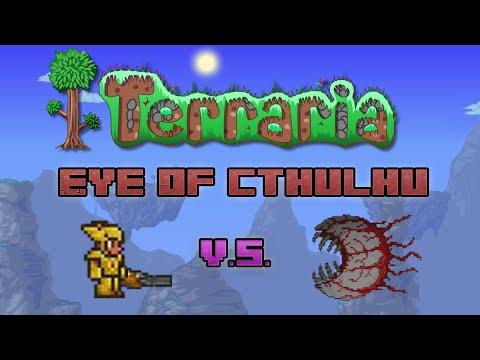 Terraria - Defeating Eye Of Cthulhu (w/ Minishark)