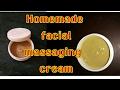 DIY summer facial massaging cream for skin brightening in 10 mints