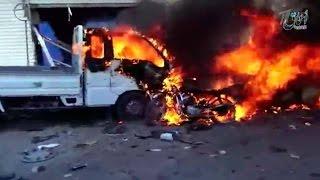Шокирующие кадры последствий бомбовых ударов западной коалиции по мирным жителям в Сирии.