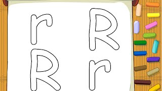 Alphabet Coloring Pages - Letter R Coloring Page