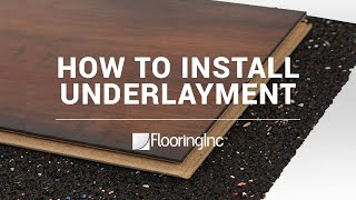 How To Install Rubber Underlayment
