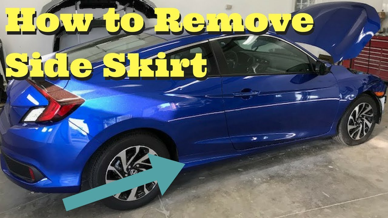 hight resolution of 2016 2017 honda civic rocker molding removal how to remove side skirt 2dr coupe
