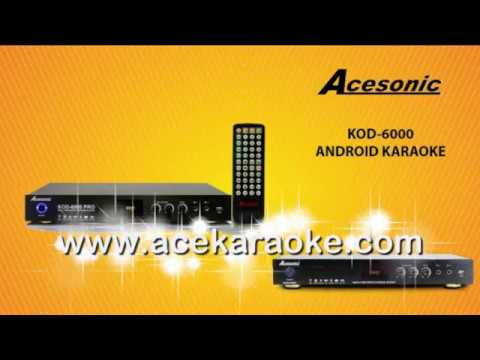Acesonic KOD 6000 Pro Dual Hard Drive Multimedia Karaoke Player For Sale