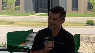 Asher visits Juncos Racing Headquarters