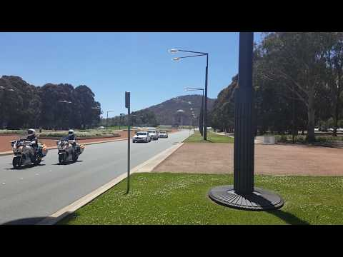 Motorcade of the Governor-General of Australia in Canberra - Remembrance Day