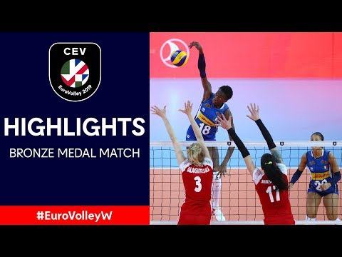#EuroVolleyW | Italy - Poland | Bronze Medal Match Highlights