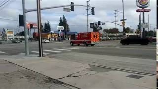 LAFD Rescue 70 Responding
