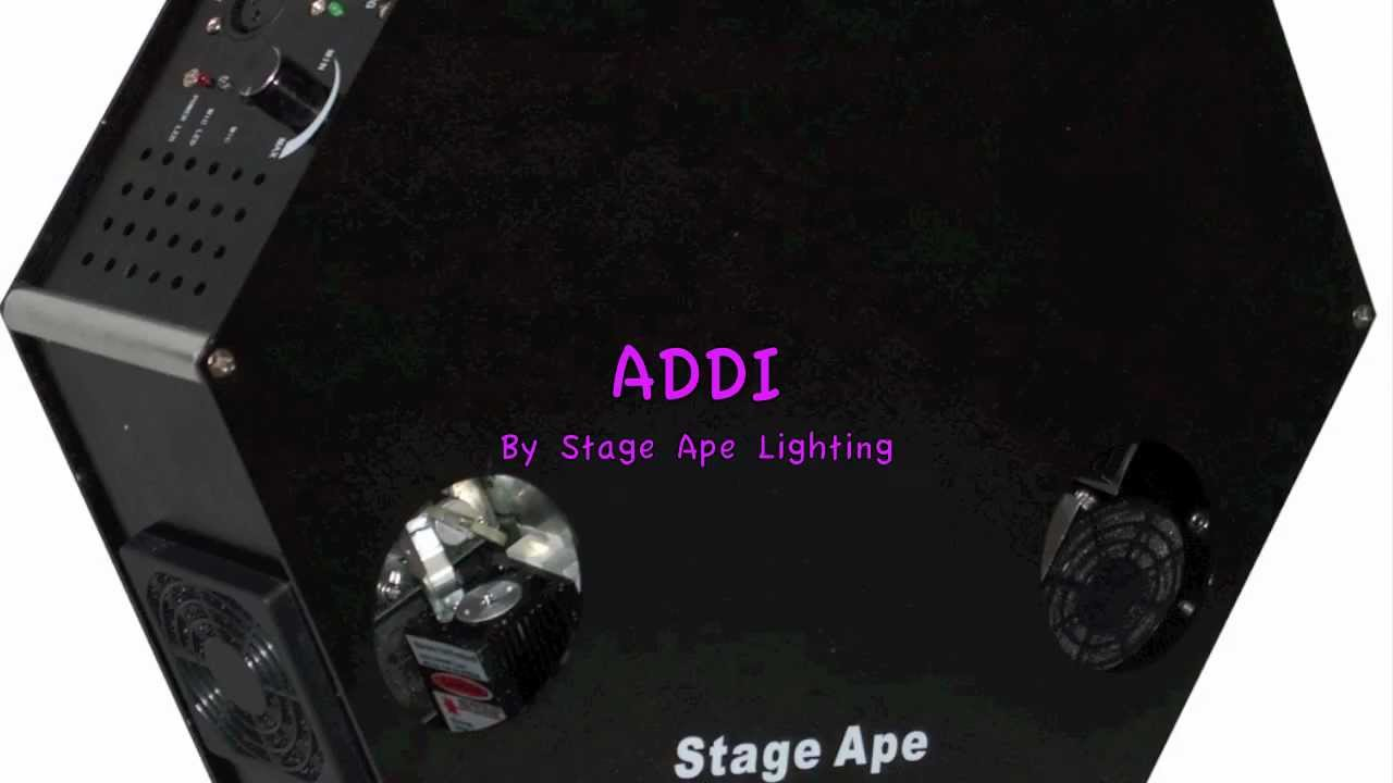 ADDI DMX RGB Laser from Stage Ape Lighting - YouTube