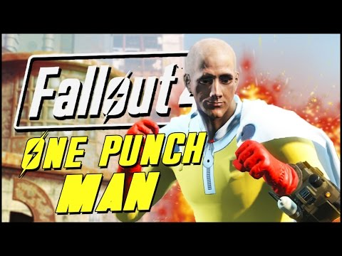 Fallout 4 Mods & Funny Moments | ONE PUNCH MAN MOD!